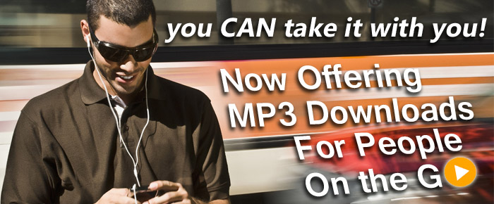 Now offering mp3 downloads